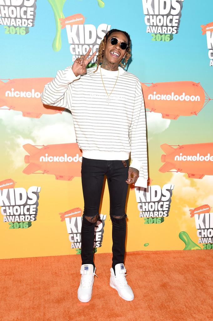 "Wiz Khalifa - В Лос-Анджелесе состоялась ""Nickelodeon Kids' Choice Awards 2016"""