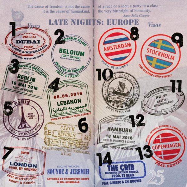 Jeremih Late Nights Europe 600x600 - Jeremih — Late Nights: Europe (Mixtape)