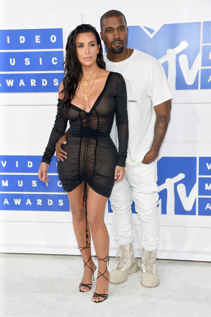 Kanye West and Kim Kardashian West - MTV Video Music Awards 2016: Фотографии