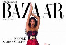Николь Шерзингер на обложке Harper's Bazaar Vietnam