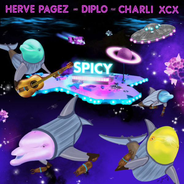 Herve Pagez x Diplo Spicy feat. Charli XCX 600x600 - Herve Pagez x Diplo - Spicy (feat. Charli XCX)
