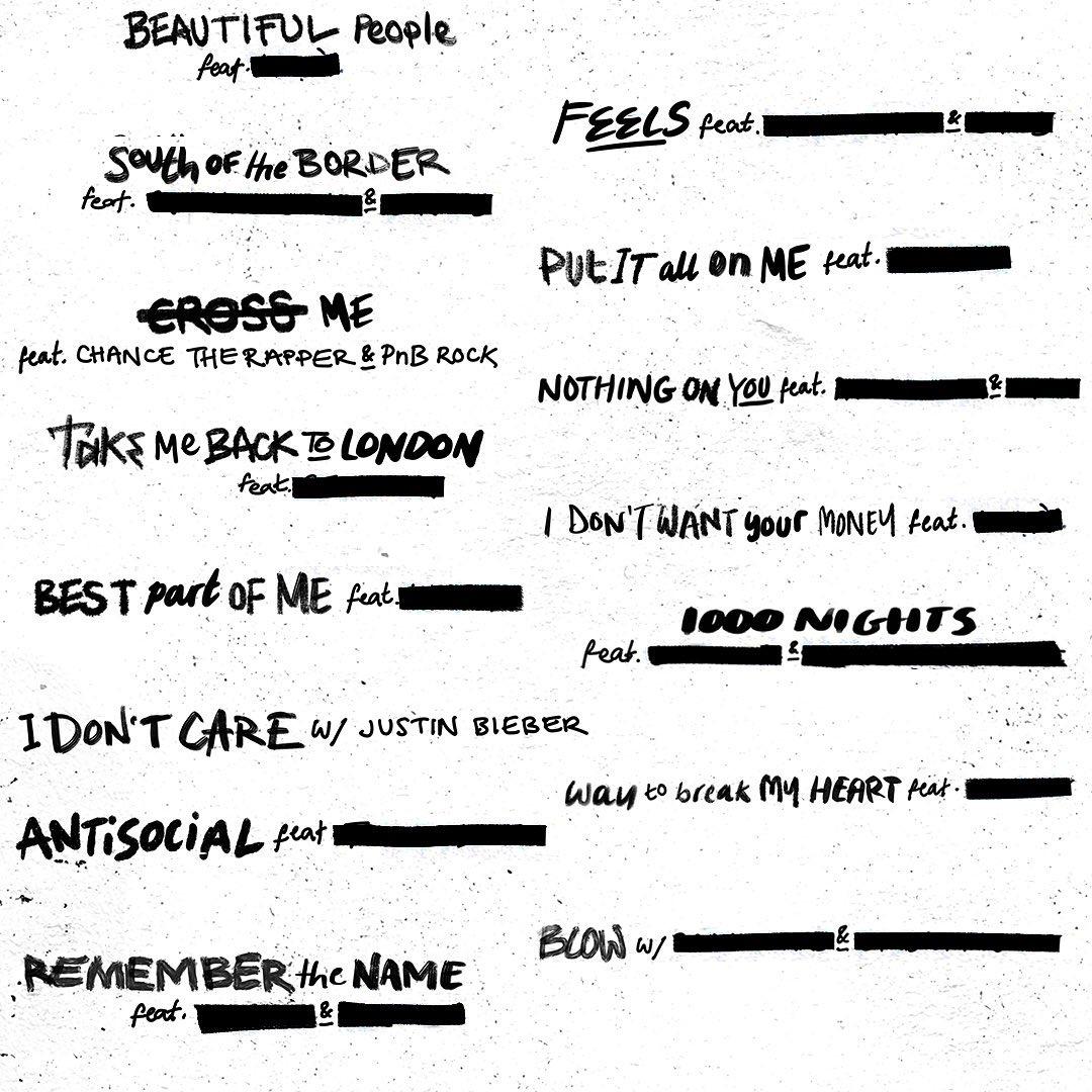 """Эд Ширан выпускает альбом коллабораций """"No. 6 Collaborations Project"""""""