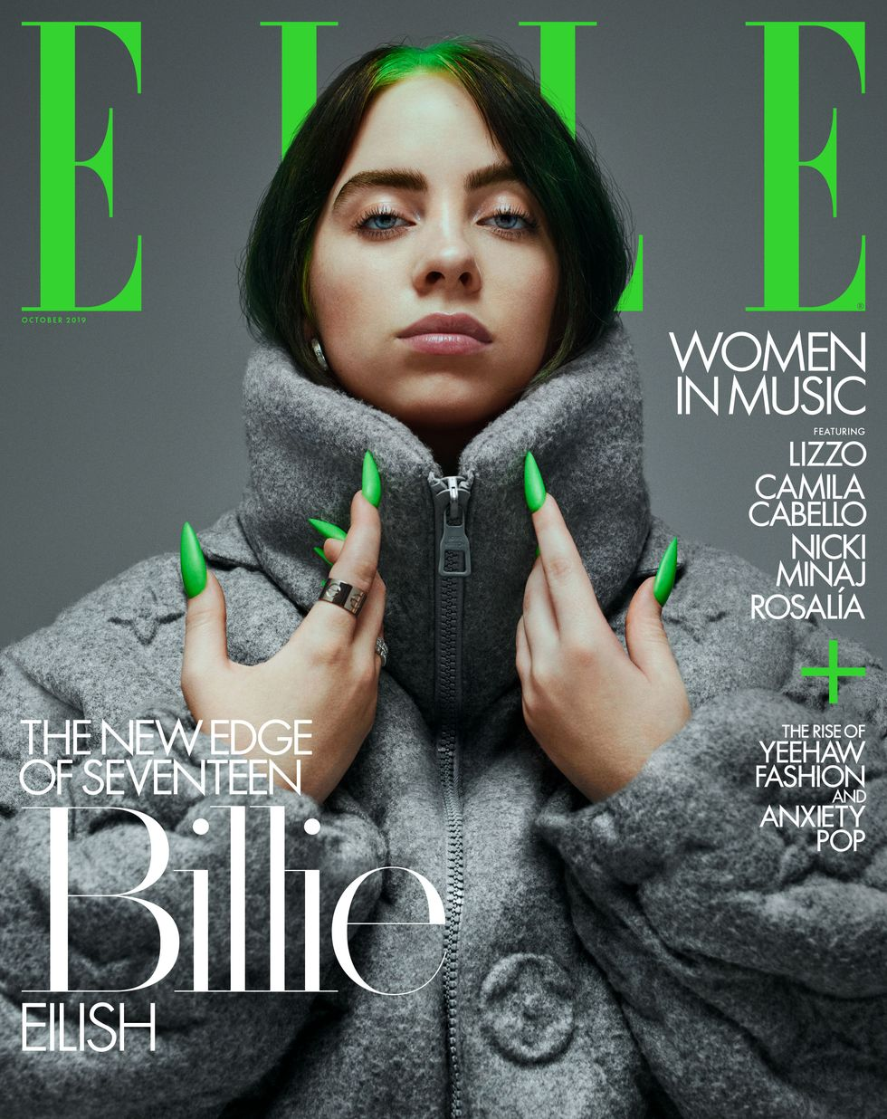 "Фото: Билли Айлиш на обложке журнала ""Elle"""