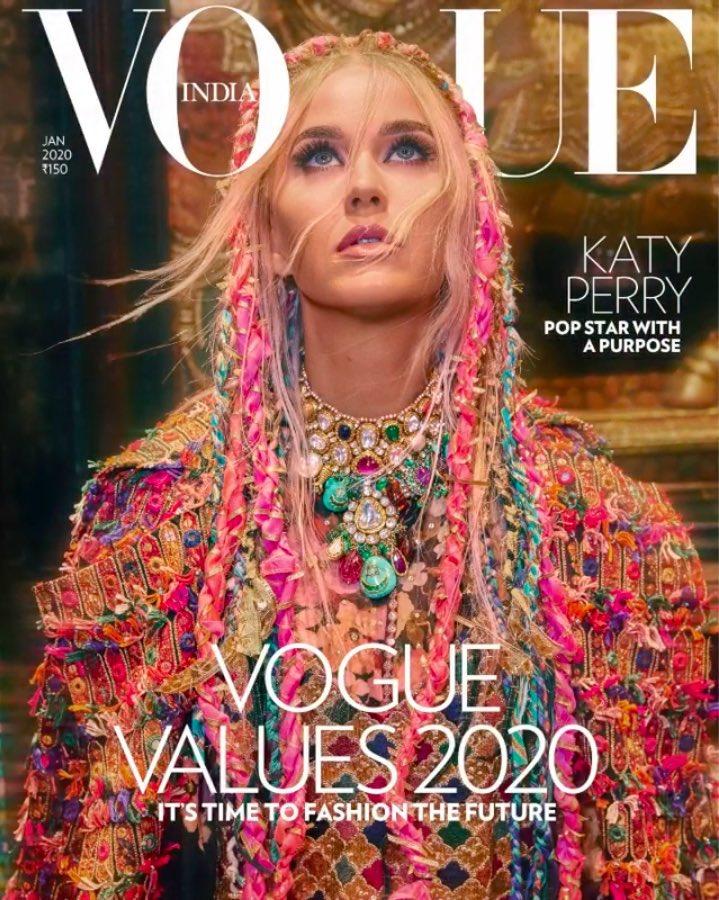 Фото: Кэти Перри на обложке Vogue India