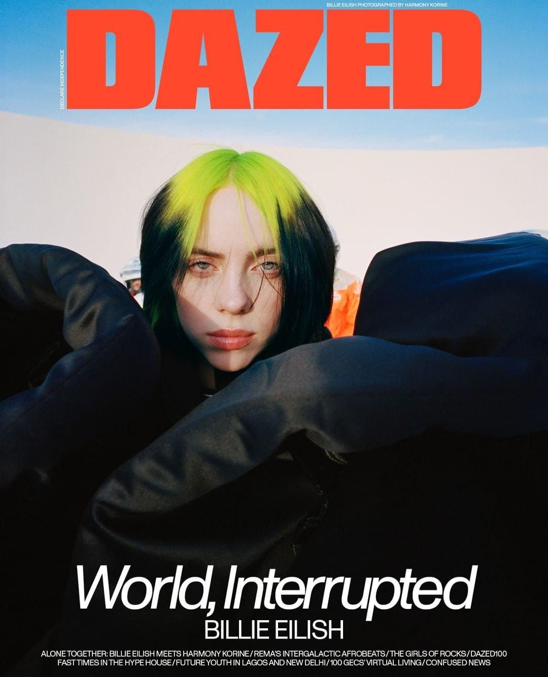 Billie Eilish Dazed 2020 10 - Фото: Билли Айлиш на обложке журнала Dazed