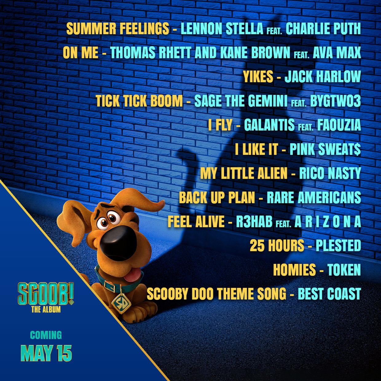 01 SCOOB Tracklist Art 2020 - SCOOB! The Album (саундтрек к мультфильму «Скуби-Ду»)