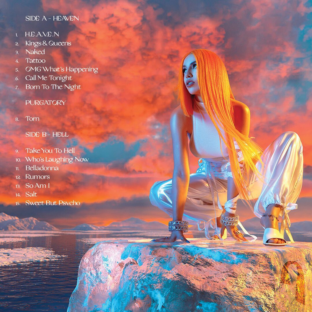ava max 2020 heaven and hell backcover - Ava Max - Heaven & Hell (Album)