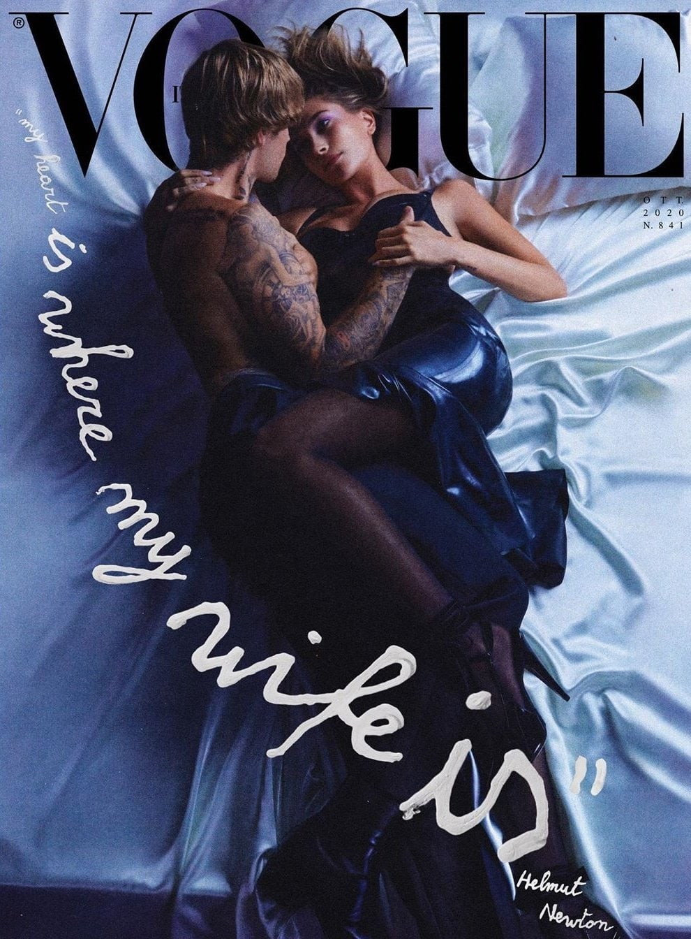 Justin Bieber Hailey vogue 1 - Фото: Джастин Бибер и его жена на обложке Vogue
