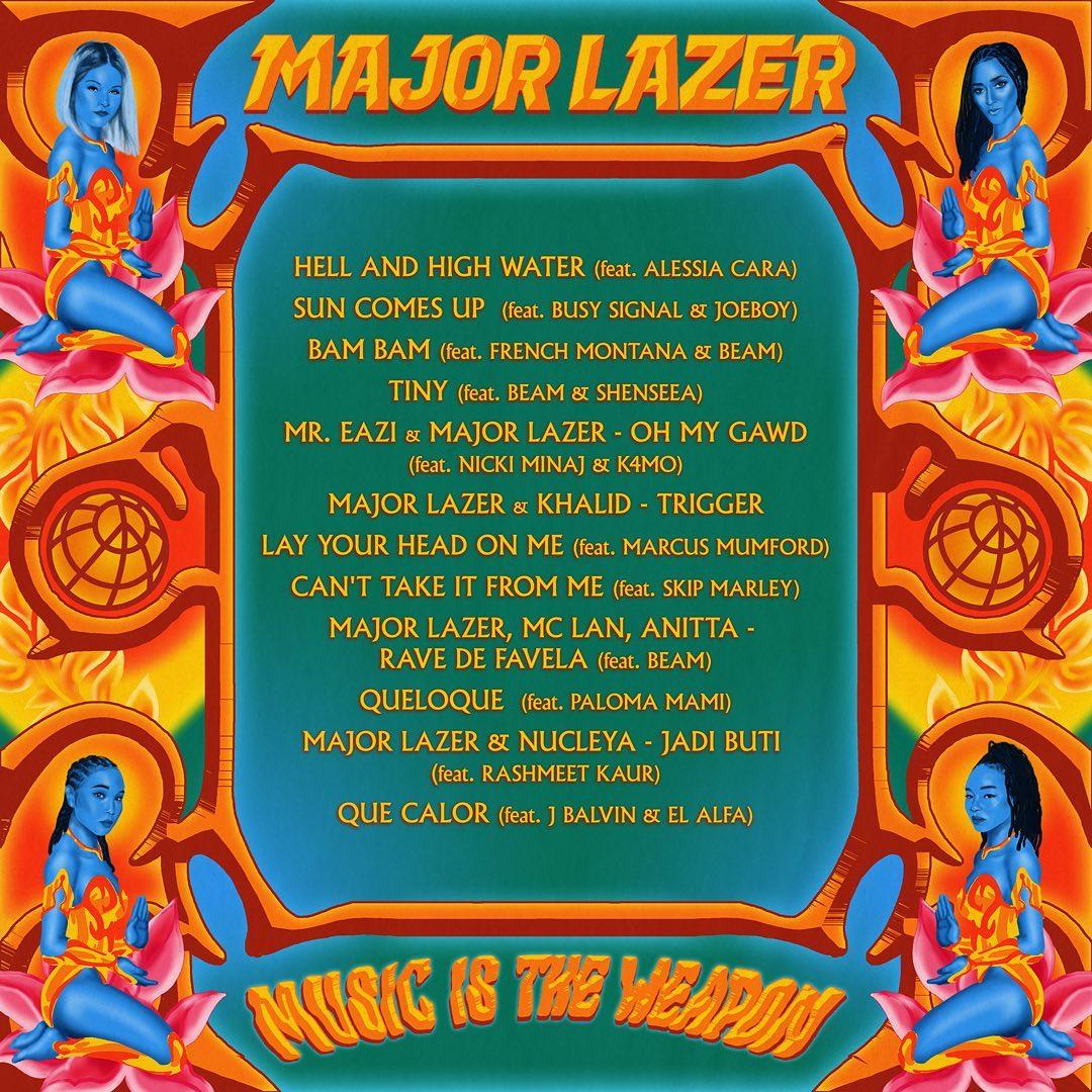 Major Lazer Music is the Weapon Album back cover - Major Lazer - Music is the Weapon (Album)
