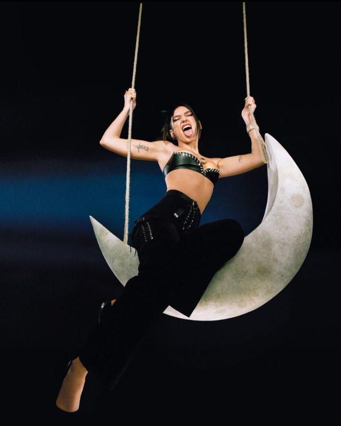 Dua Lipa The Moonlight Edition Promo Pic 2 696x869 - Обложка сингла: Dua Lipa - We're Good