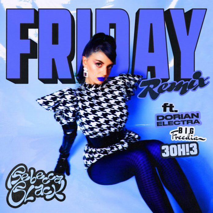Rebecca Black Friday Remix feat. 3OH3 Big Freedia Dorian Electra 696x696 - Rebecca Black - Friday (Remix) [feat. 3OH!3, Big Freedia & Dorian Electra]