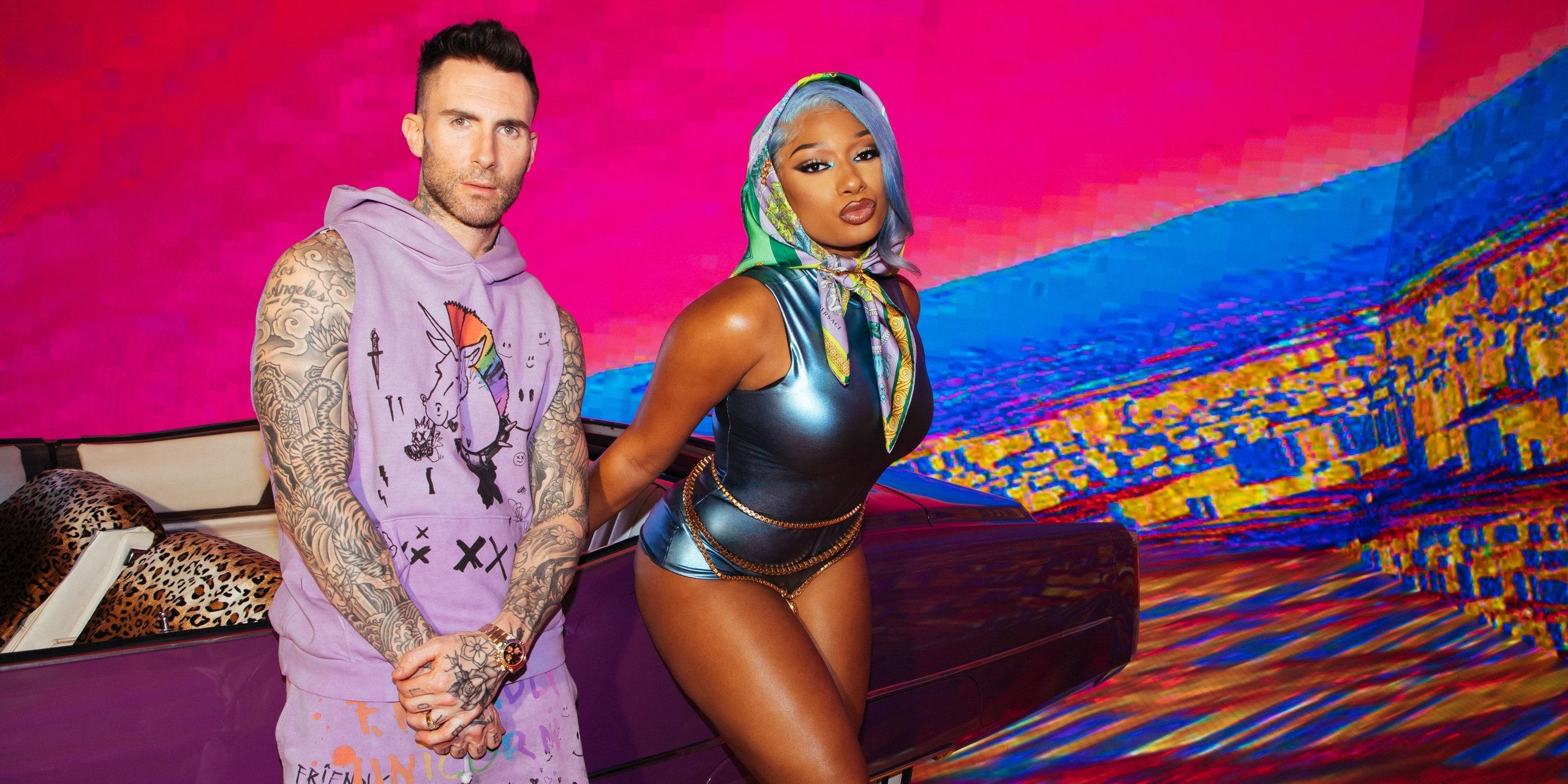 Adam Levine and Megan Thee Stallion - Maroon 5 - Beautiful Mistakes (feat. Megan Thee Stallion)