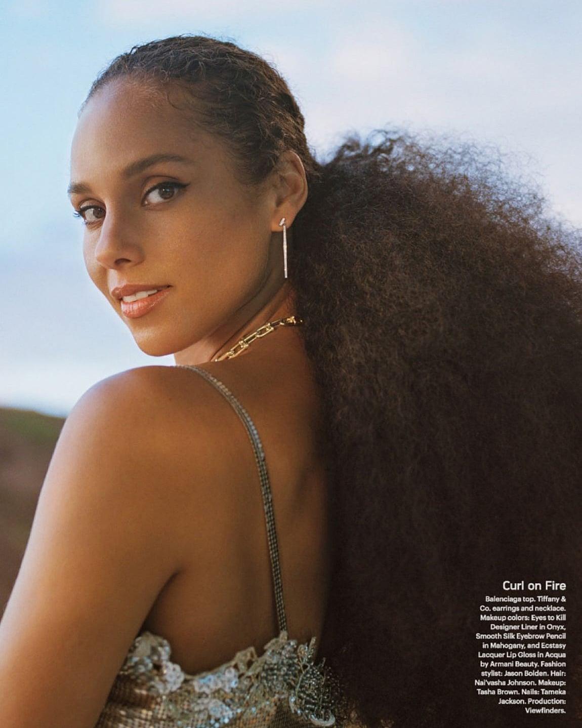 Alicia Keys Allure 2021 1 - Фото: Алиша Киз на обложке Allure