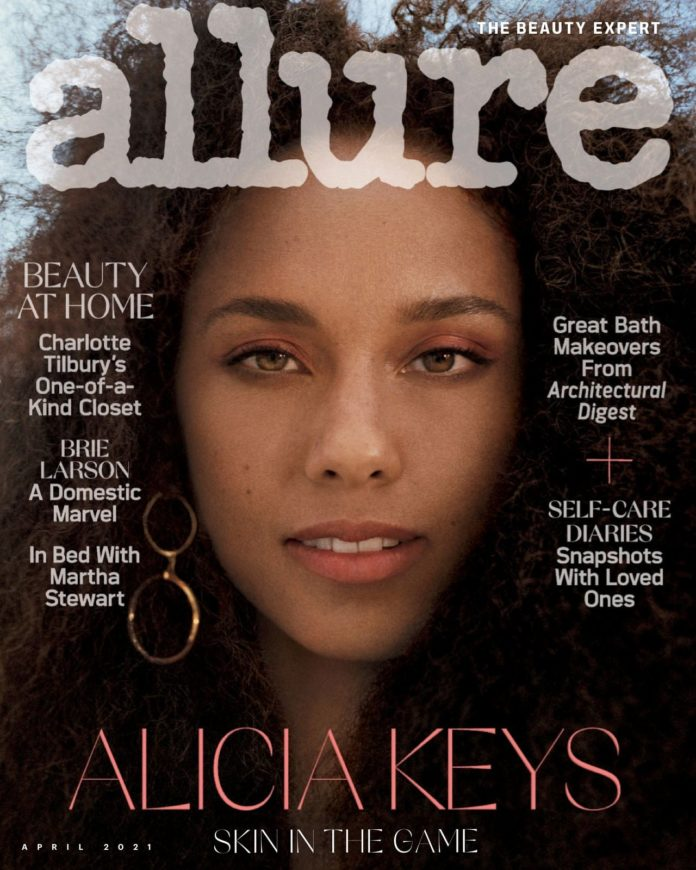 Alicia Keys Allure 2021 6 696x870 - Фото: Алиша Киз на обложке Allure