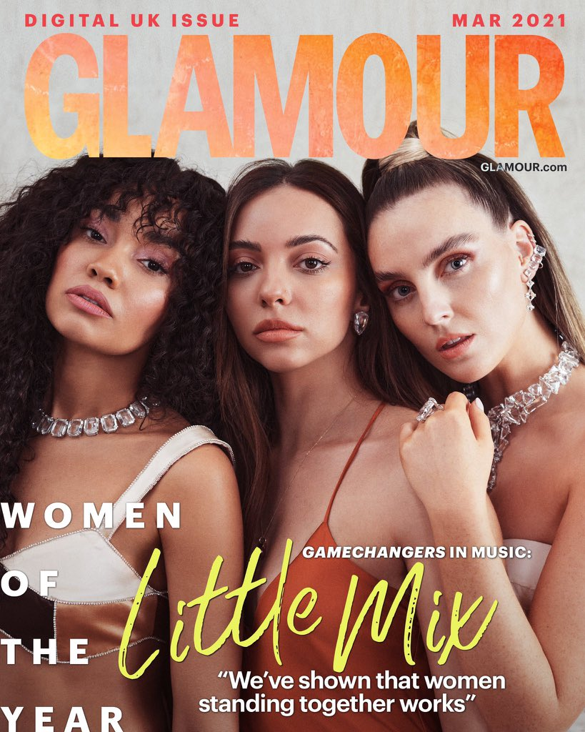 Little Mix Glamour UK 3 - Фото: Little Mix на обложке журнала Glamour UK