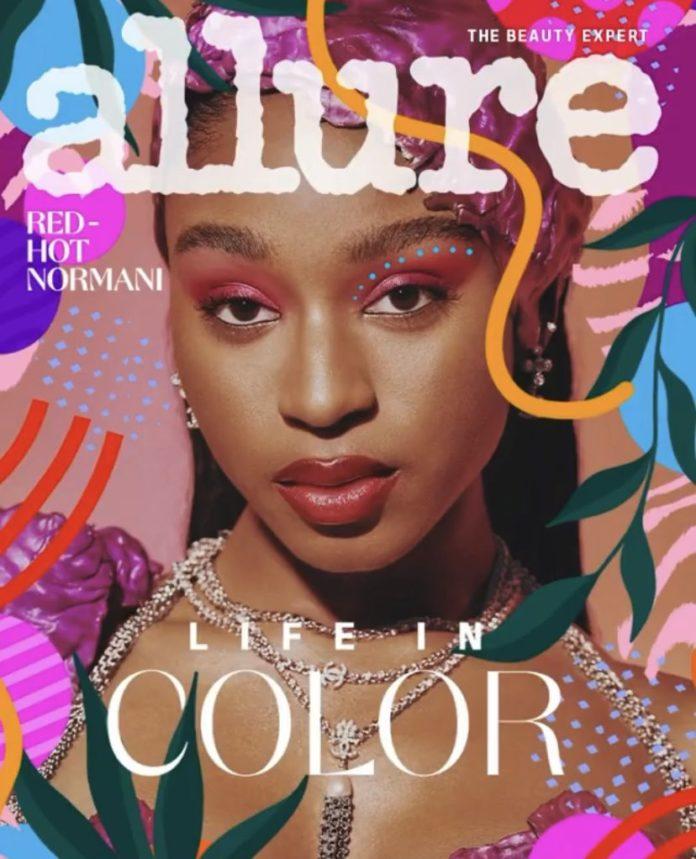 Normani Allure Sept 2021 cover 696x859 - Фото: Normani на обложке журнала Allure