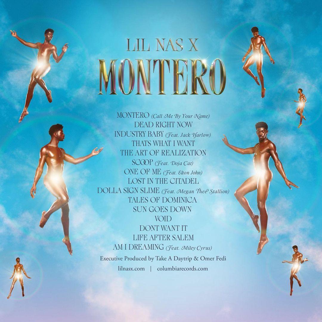 lil nas x montero backcover tracklist - Lil Nas X - Montero (Album)